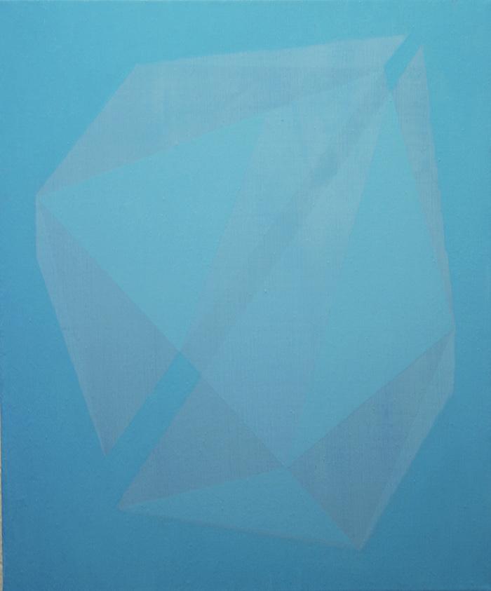 Cielo de juguete II. 46x38 cm. Óleo y acrílico/lienzo. 2012