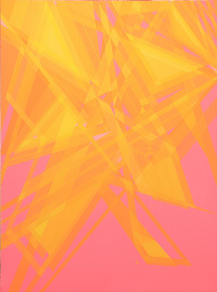 Rescoldos II. 130x97cm. Acrílico/lienzo. 2014-2015