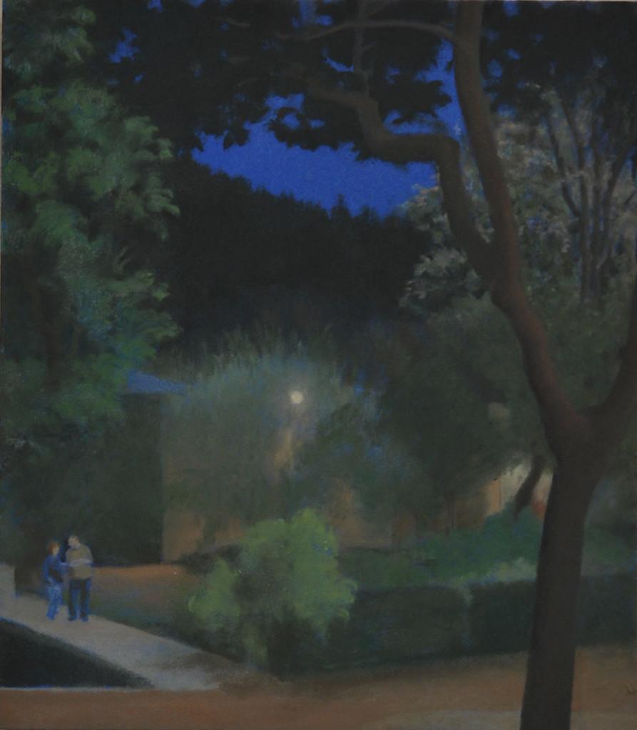 Noche en Cuzcurrita. Óleo sobre tabla. 22,9 x 26,2. 2015