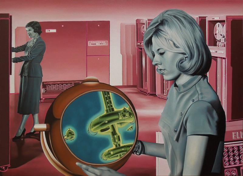 Computer Love (Óleo sobre lienzo 100x73 cm) 2015