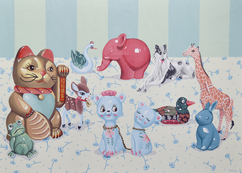 Fauna, 2016. Acrílico sobre lienzo, 46 x 65 cm.