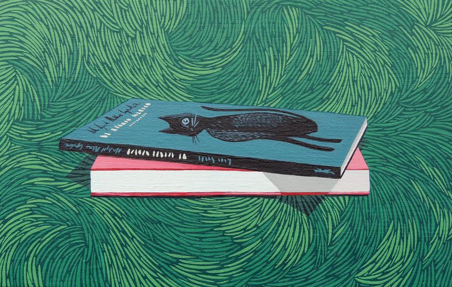 Novela Negra, 2015. Acrílico sobre lienzo, 22 x 35 cm.