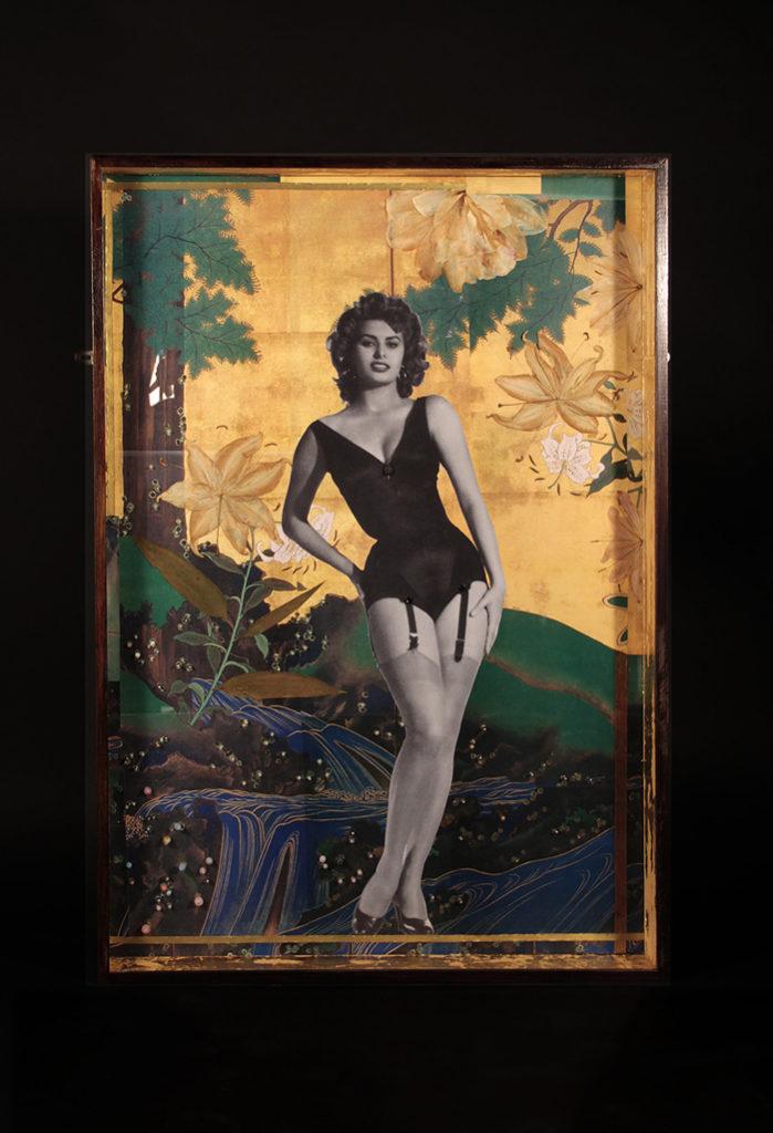 Almudena Armenta, I . 2016 - Técnica mixta y collage fotográfico - 87x122x9 cm.