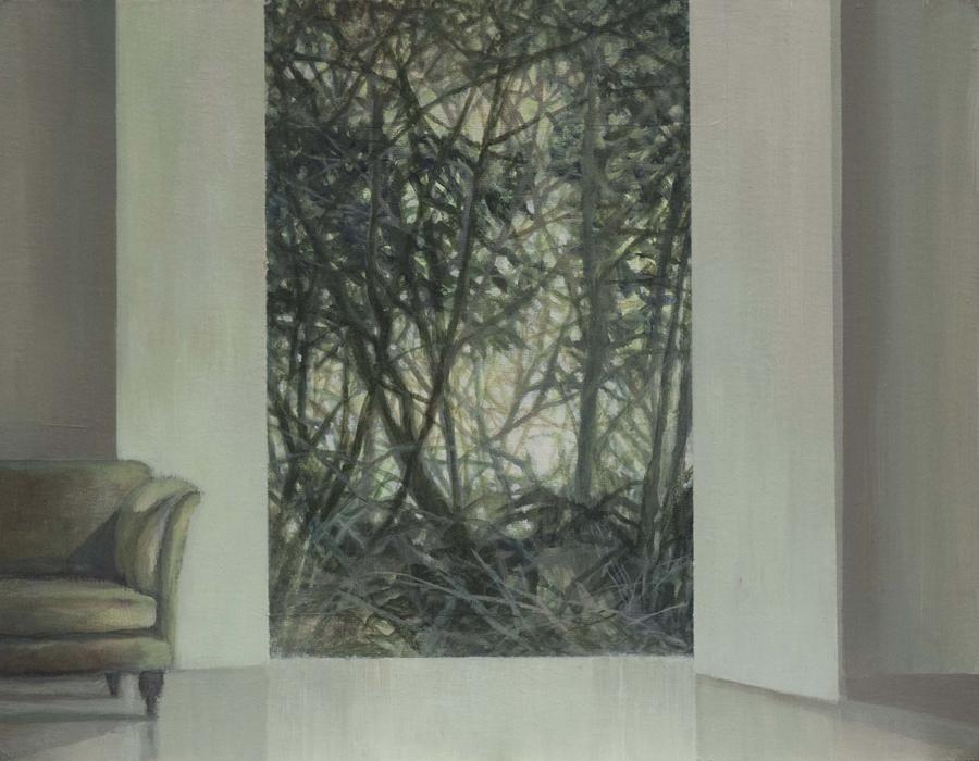 Bosque, 2017, óleo / lienzo, 27 x 35 cm.