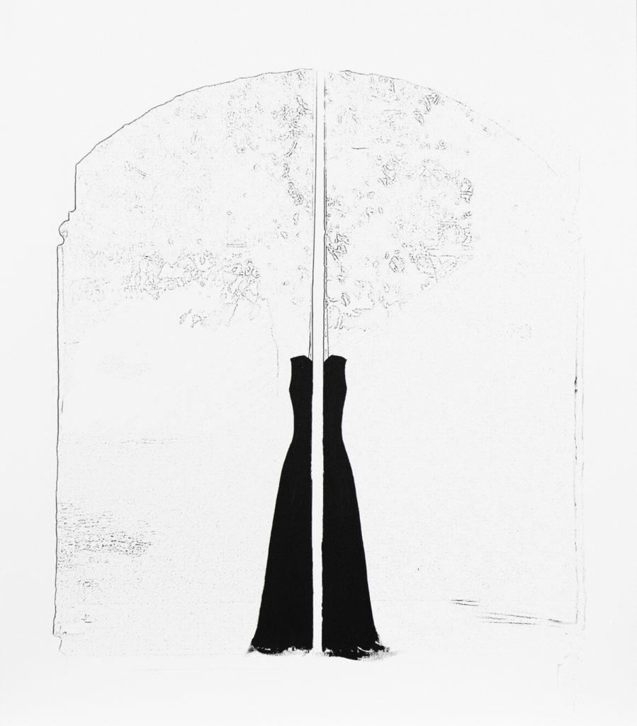40 x 38 cm, enmarcado. 2018 Técnica mixta, papel de algodón