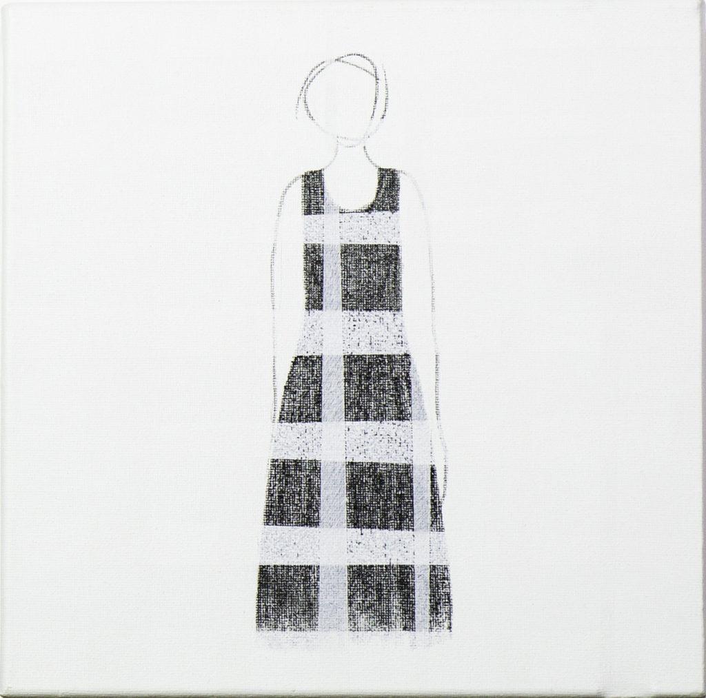 20 x 20 cm, 2018 Acrílico y lápiz. Lienzo