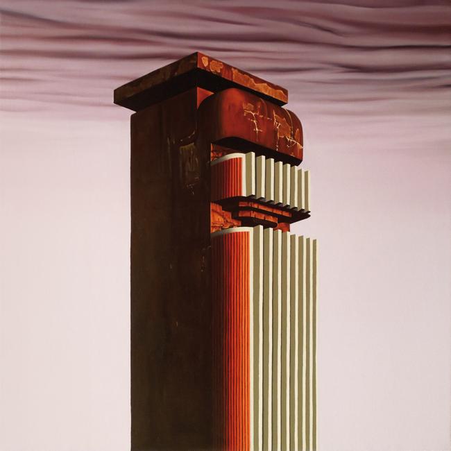 Torre de Silencio (80x80 cm) Óleo sobre lino, 2018