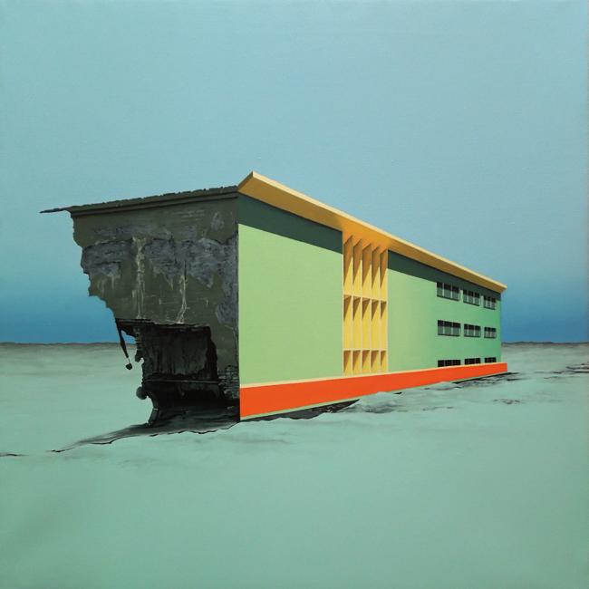 Horizonte Desolado (70x70 cm) Óleo sobre lino, 2018