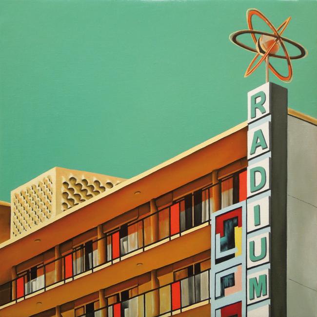 Radium Motel (40x40 cm) Óleo sobre lino, 2017