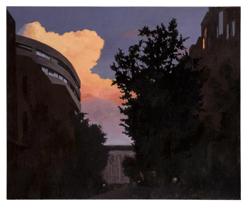 Los días del eclipse, Almenara, 2018 Óleo sobre lienzo 60x73 cm