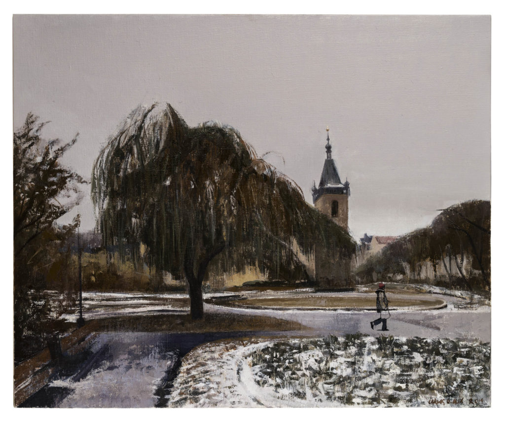 El estudiante de Praga, 2018 Óleo sobre lienzo 59, 5 X 72 cm