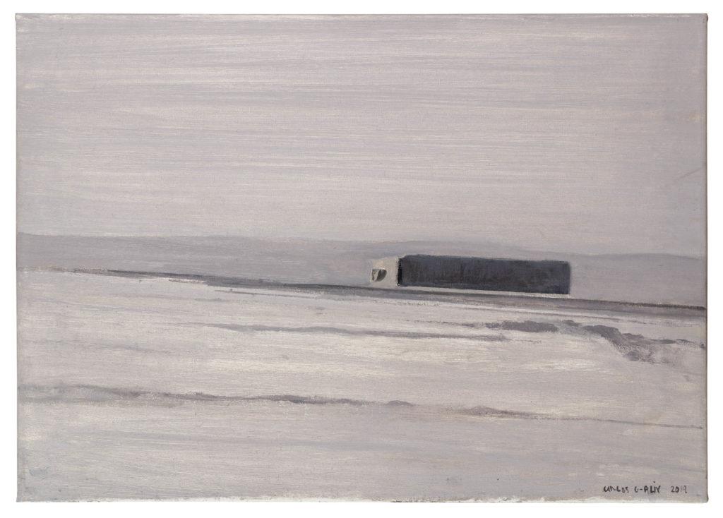 Madrid-Bilbao (camión en la nieve) Óleo sobre lienzo 46 x 65 cm