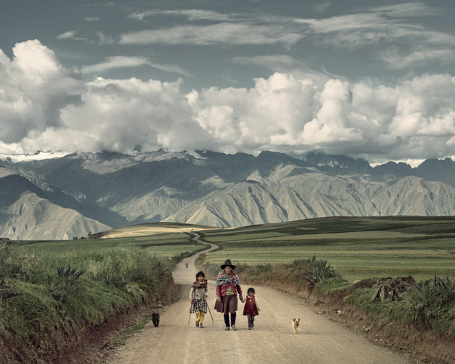 La fotografía del camino, 2014. Juan Manuel Castro Prieto. 60cm x 73cm.Tintas de pigmentos minerales sobre papel Ilford Gold fiber silk
