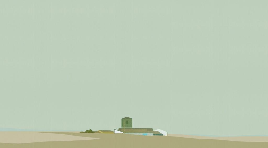 Torre. 29 x 50 cm. Acrílico sobre tela. 2017