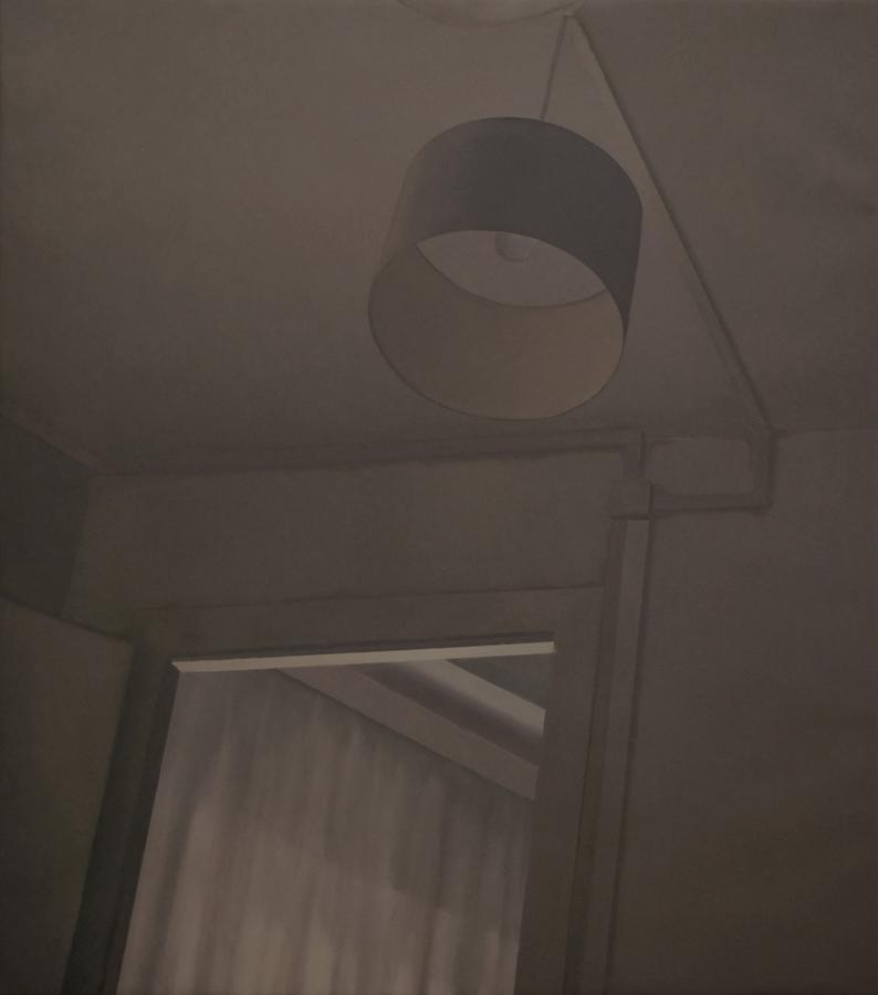 """Autorretrato noche"" óleo sobre lienzo. 130x115. 2018."