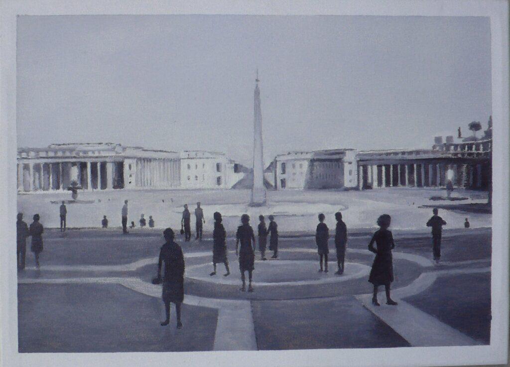 Piazza San Pietro, oleo-lienzo 24x33 cm