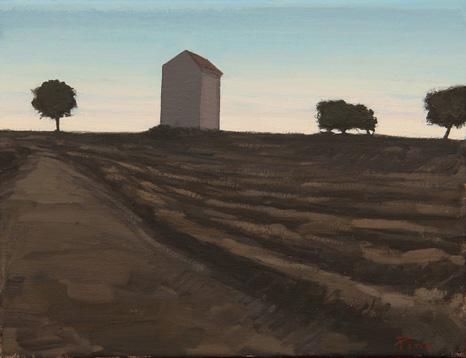 """Alberto Pina, """"Somonte"""",2013 O/L ,27 x 35 cm."""