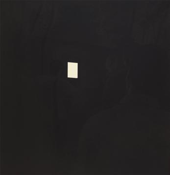 Luminoso, 2013. Acrílico sobre lienzo, 60 x 60 cm.
