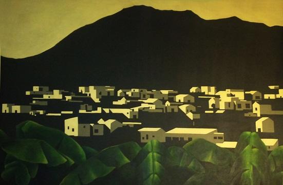 Desde las plataneras, 2011 Acrílico sobre lienzo, 90X60 cm.