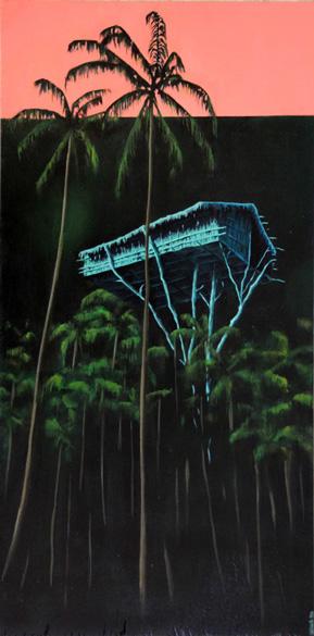 Casa en los árboles II Acrílico/ tabla 40 x 80 cm 2013