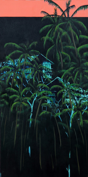 Casa en los árboles III Acrílico/ tabla 40 x 80 cm 2013
