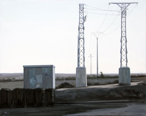 En la carretera - óleo/lienzo 73 x 92 cm.