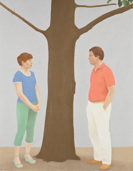 Marcos y Beatriz. Óleo sobre lienzo 122x95