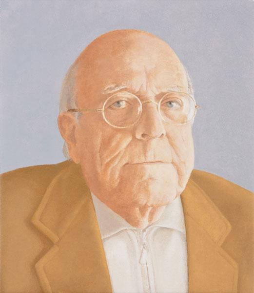 Retrato de José Jiménez Lozano. Óleo sobre lienzo 38x33
