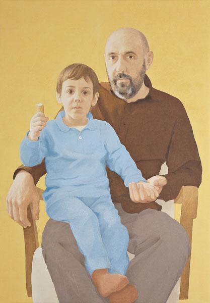 Sin título (Manuel y Nicolás) Óleo sobre lienzo 107x74