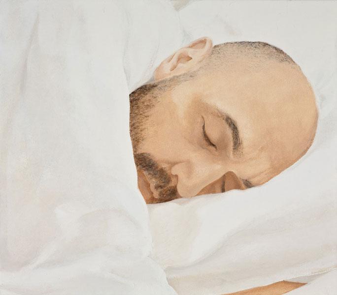 Sin título (Manuel dormido) Óleo sobre lienzo 35,5x40