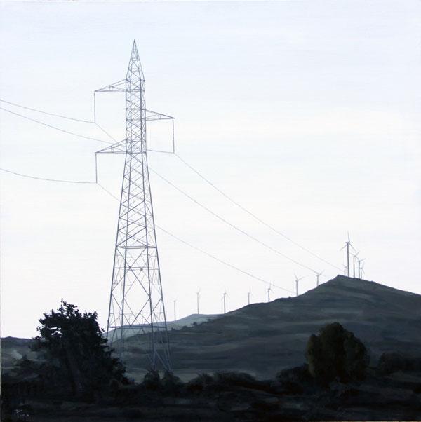 Molinos de viento - óleo/lienzo 90 x 90 cm.