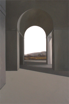 Campo segado - óleo/lienzo 195 x 130  cm.