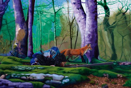 Cazador al Acecho, 2013 Óleo sobre lienzo 55 x 81 cm