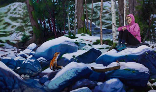 Dama de las Nieves, 2014 Óleo sobre lienzo 54 x 92 cm