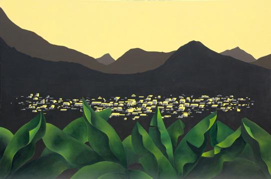 Desde las Plataneras V 2012 Acrílico/lienzo 195 x 130 cm 2012