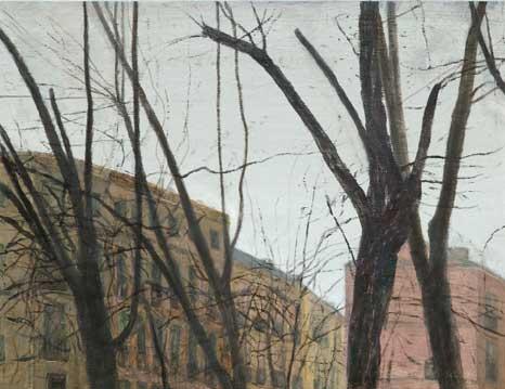Paseo del Prado, 2005 óleo/lino 50x65cm