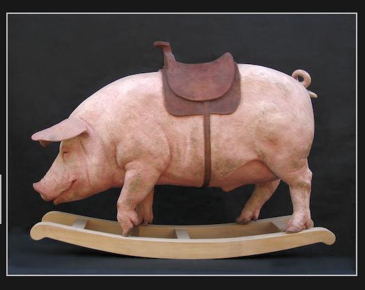Gerard Mas Balancín para niños porcestres, 2007 Resina de poliester policromada 105x75x32,5 cm.