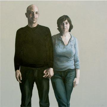 Javier y María José. 2009. 150 x 150 cm.