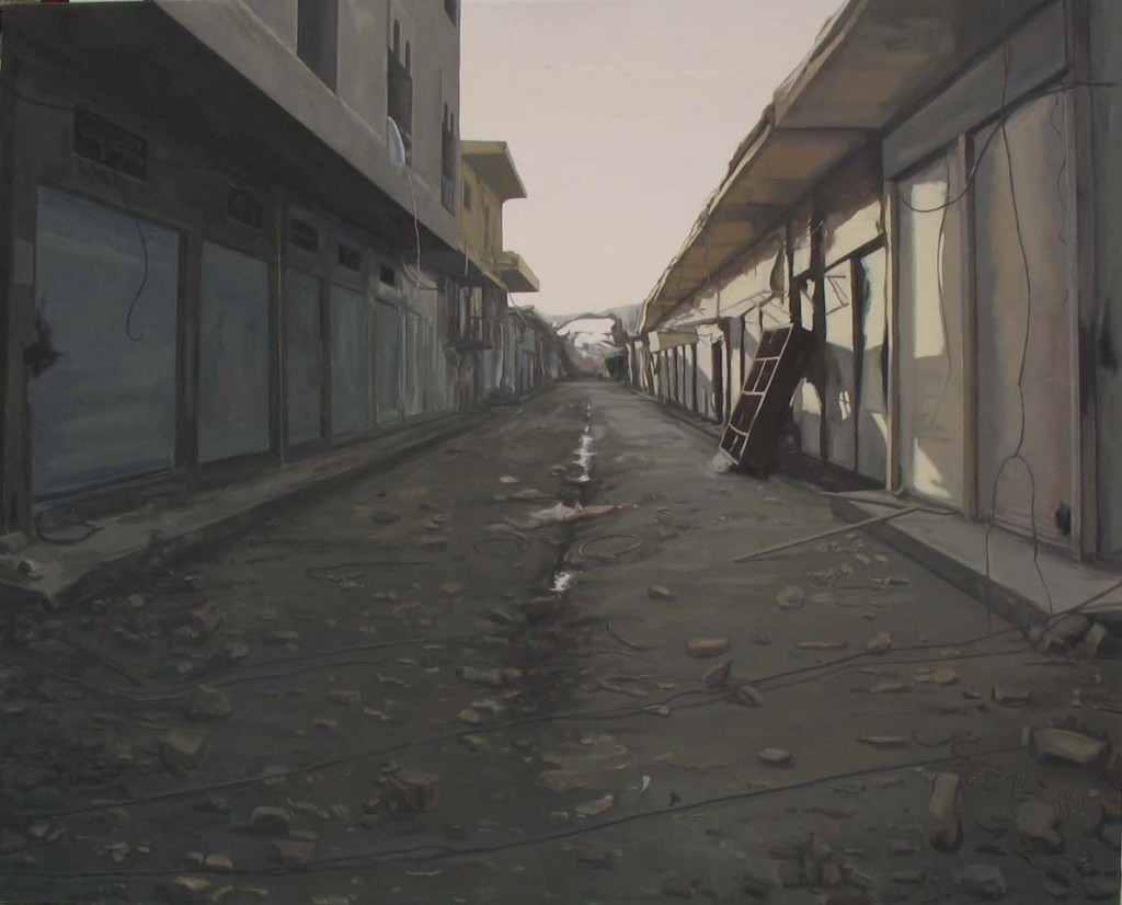 La guerra. 2005 Óleo/lienzo 130x162 cm.