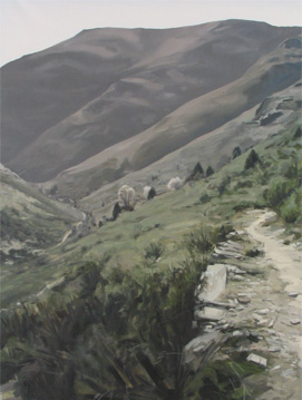 Qué verde el valle - óleo/lienzo 162 x 120  cm.