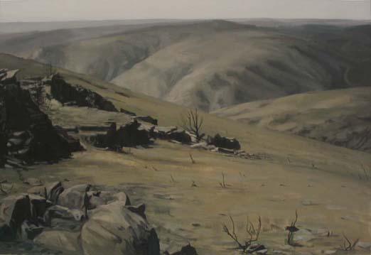 Tierra quemada. 2004 Óleo/lienzo 89x130 cm.