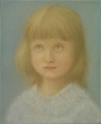 Alice 2012 óleo sobre lienzo 27 x 22 cm.