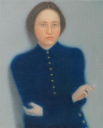 Hannah Arendt 2012 óleo sobre lienzo 41 x 33 cm.