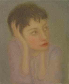 Pintora 2012 óleo sobre lienzo 27 x 22 cm.