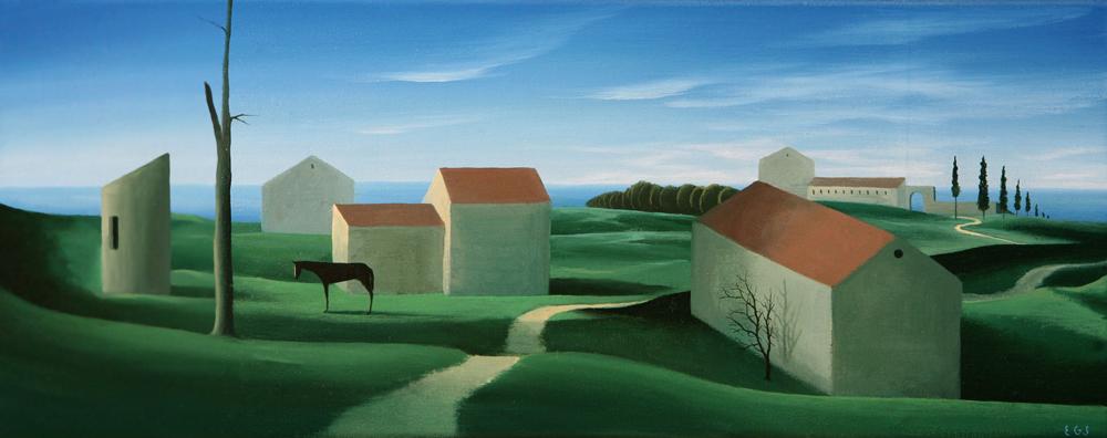 El caballo  - Óleo sobre lienzo -  20x50