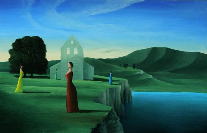 El campo-de las damas - Óleo sobre lienzo - 22.5x35