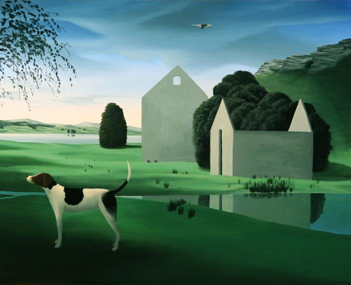 El perro  - Óleo sobre lienzo -  81x100