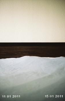 Baker - Tinta pigmentada en papel fotográfico, perforación láser, 45 x 30 x 4 cm. Edición de 3+2 AP