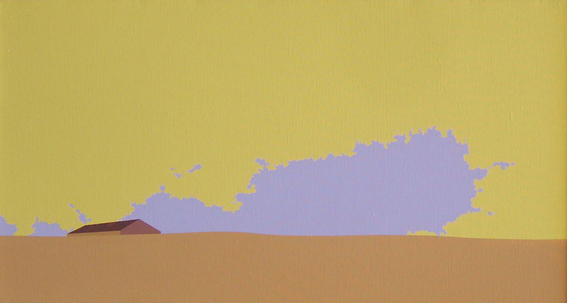 Chema Peralta, Tenada, 2011, acrílico/lienzo,36x67cm