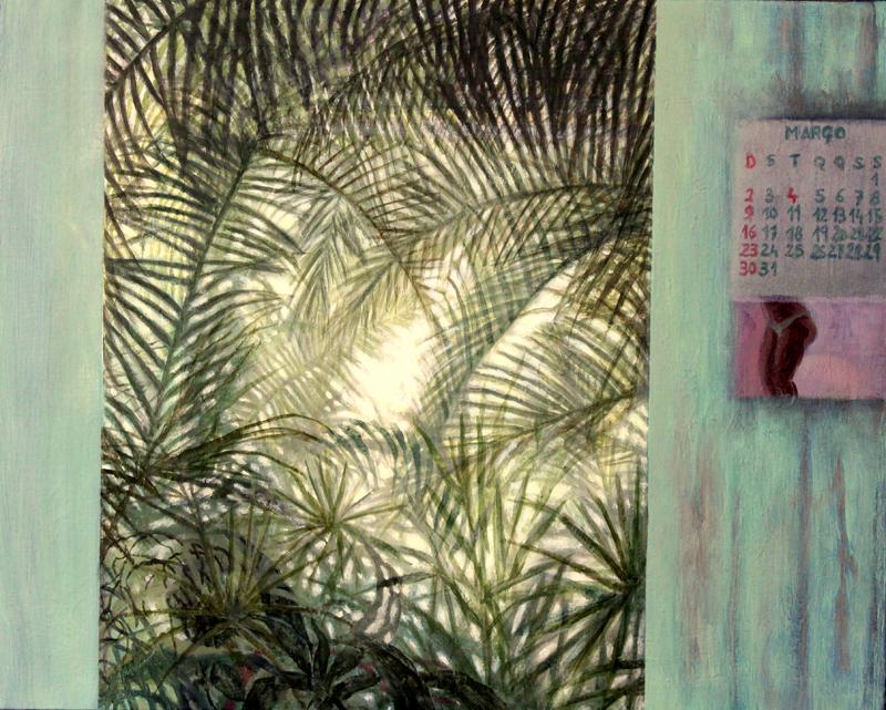 Março (2015). Óleo/lienzo, 40 x 50 cm.